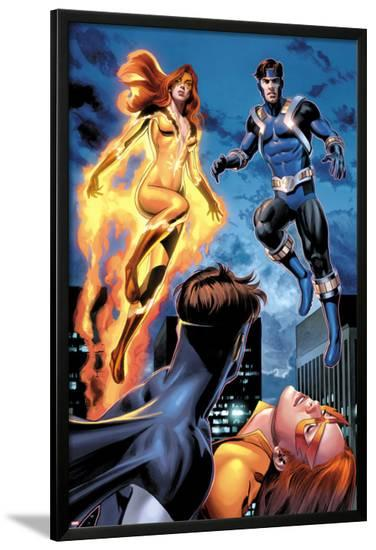 I Am An Avenger No.2: Firestar and Justice Flying-Mike Mayhew-Lamina Framed Poster