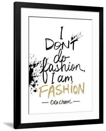 I am Fashion!-Lottie Fontaine-Framed Giclee Print