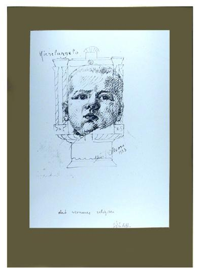 I Am The Third Series #4-Michelangelo Pistoletto-Limited Edition