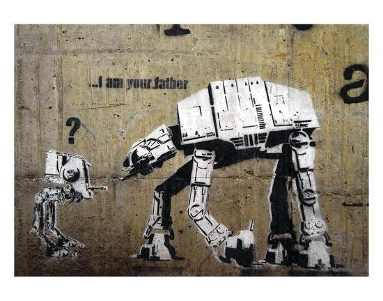 I am your father-Banksy-Art Print