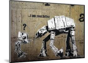 I am your father-Banksy-Mounted Art Print