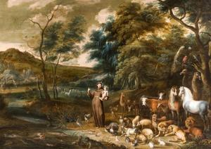 Saint Francis with the Animals by I and Hondt Willem van