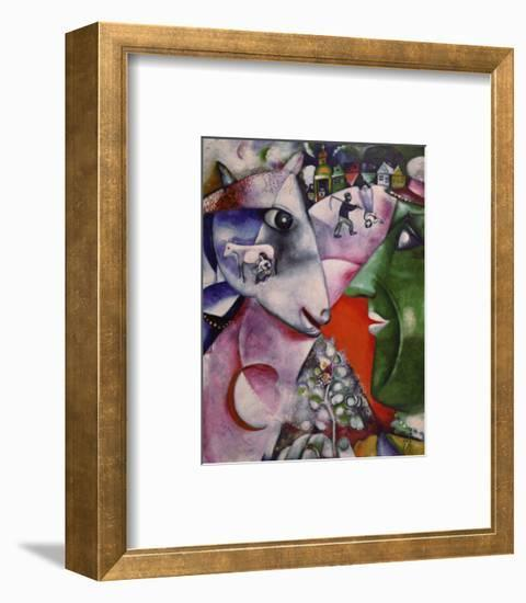 I and the Village, 1911-Marc Chagall-Framed Art Print