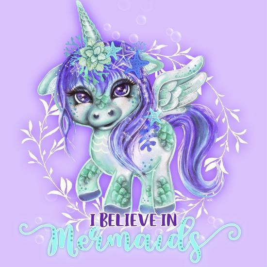 I Believe in Mermaids CutieCorn-Sheena Pike Art And Illustration-Giclee Print