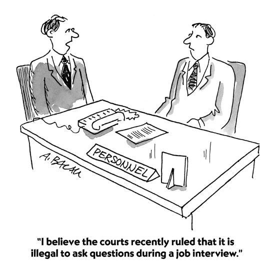 """""""I believe the courts recently ruled that it is illegal to ask questions d?"""" - Cartoon-Aaron Bacall-Premium Giclee Print"""