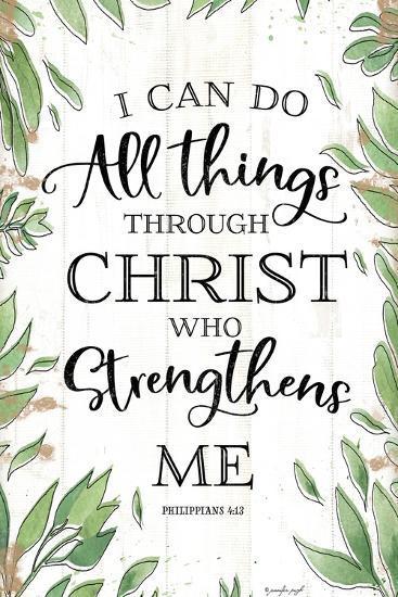 I Can Do All Things Through Christ-Jennifer Pugh-Art Print