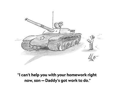 """""""I can't help you with your homework right now, son ? Daddy's got work to ?"""" - Cartoon-Frank Cotham-Premium Giclee Print"""