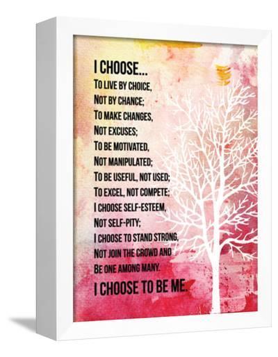 I Choose--Framed Canvas Print