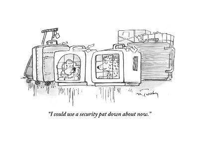 """""""I could use a security pat down about now."""" - Cartoon-Mike Twohy-Premium Giclee Print"""