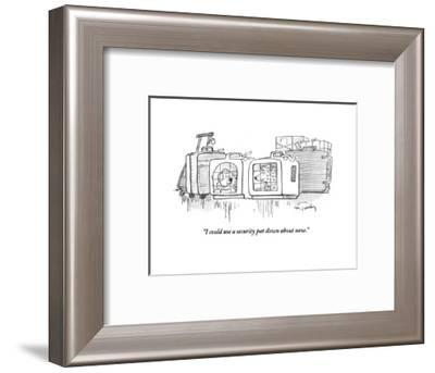 """""""I could use a security pat down about now."""" - Cartoon-Mike Twohy-Framed Premium Giclee Print"""