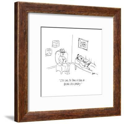 """I'd like to take a stab at being less angry."" - Cartoon-Mary Lawton-Framed Premium Giclee Print"
