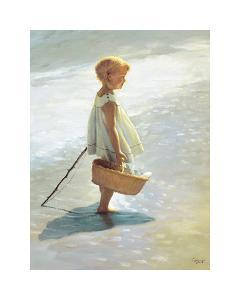 Young Girl on a Beach by I^ Davidi