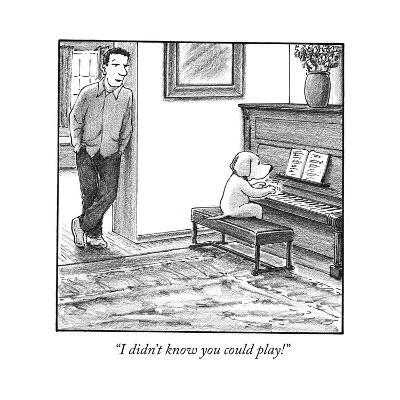 """""""I didn't know you could play!"""" - Cartoon-Harry Bliss-Premium Giclee Print"""