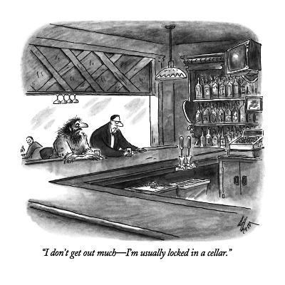 """I don't get out much?I'm usually locked in a cellar."" - New Yorker Cartoon-Frank Cotham-Premium Giclee Print"