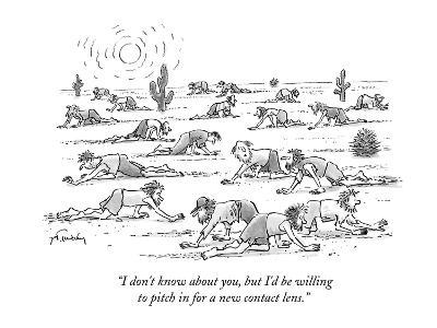 """""""I don't know about you, but I'd be willing to pitch in for a new contact ?"""" - New Yorker Cartoon-Mike Twohy-Premium Giclee Print"""
