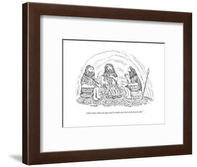 """""""I don't know about you guys, but I've had it up to here with the paleo di - New Yorker Cartoon--Framed Premium Giclee Print"""
