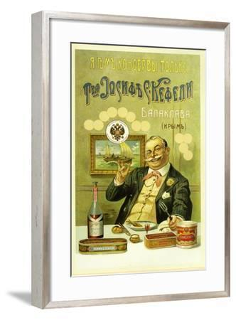 I Eat Only Canned Food by Joseph S. Kefeli Co. in Balaclava--Framed Art Print