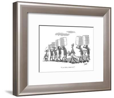 """I feel like a damn fool."" - New Yorker Cartoon-Claude Smith-Framed Premium Giclee Print"