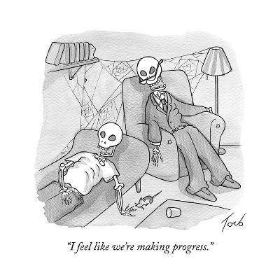 """I feel like we're making progress."" - Cartoon-Tom Toro-Premium Giclee Print"
