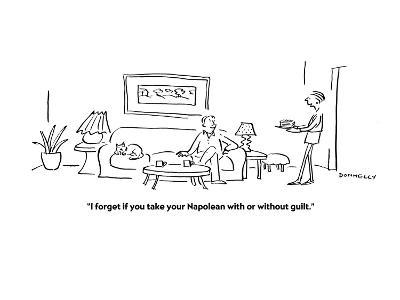 """""""I forget if you take your Napolean with or without guilt."""" - Cartoon-Liza Donnelly-Premium Giclee Print"""