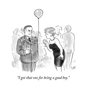 """""""I got that one for being a good boy."""" - New Yorker Cartoon"""