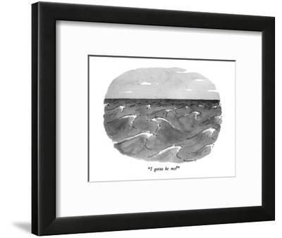 """I gotta be me!"" - New Yorker Cartoon-Danny Shanahan-Framed Premium Giclee Print"