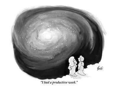 """I had a productive week."" - New Yorker Cartoon-Tom Toro-Premium Giclee Print"