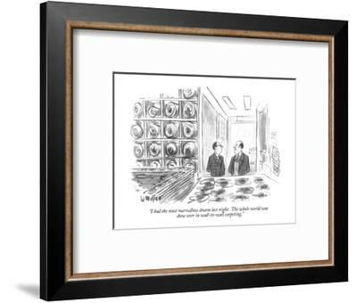 """I had the most marvellous dream last night.  The whole world was done ove?"" - New Yorker Cartoon-Warren Miller-Framed Premium Giclee Print"