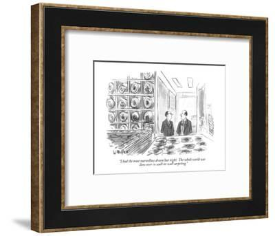 """""""I had the most marvellous dream last night.  The whole world was done ove?"""" - New Yorker Cartoon-Warren Miller-Framed Premium Giclee Print"""