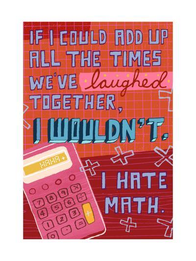 I Hate Math--Art Print
