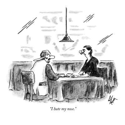 """I hate my nose."" - New Yorker Cartoon-Frank Cotham-Premium Giclee Print"