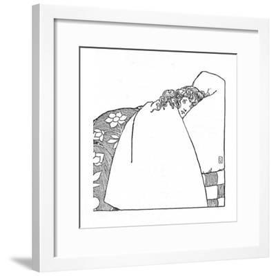 'I Have Scarcely Closed My Eyes The Whole Night Through', c1930-W Heath Robinson-Framed Giclee Print