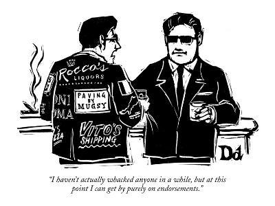 """""""I haven't actually whacked anyone in a while, but at this point I can get?"""" - New Yorker Cartoon-Drew Dernavich-Premium Giclee Print"""