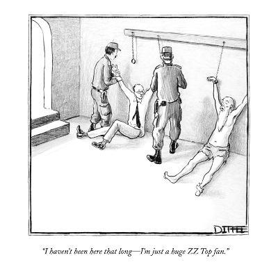 """""""I haven't been here that long?I'm just a huge ZZ Top fan."""" - New Yorker Cartoon-Matthew Diffee-Premium Giclee Print"""