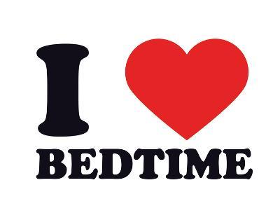 I Heart Bedtime--Giclee Print