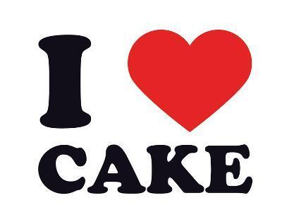 I Heart Cake--Giclee Print