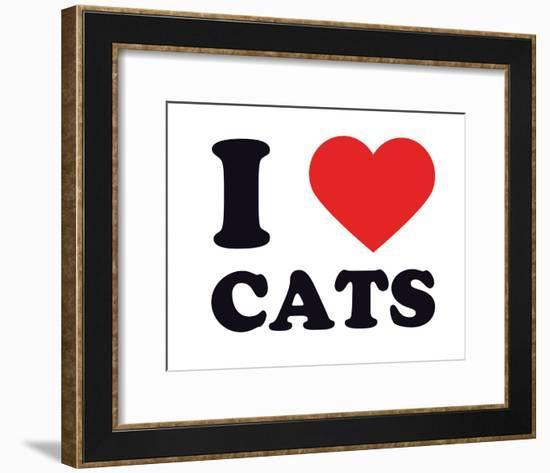 I Heart Cats--Framed Giclee Print