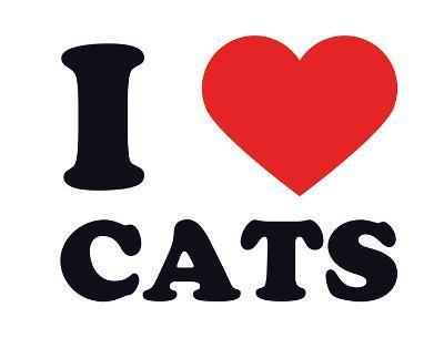 I Heart Cats--Giclee Print