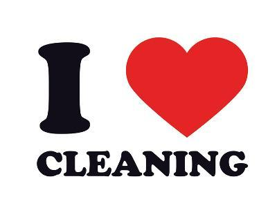 I Heart Cleaning--Giclee Print