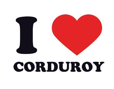I Heart Corduroy--Giclee Print