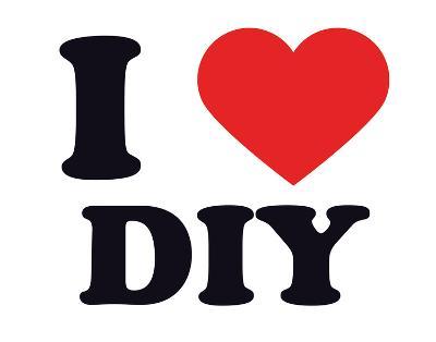 I Heart DIY--Giclee Print