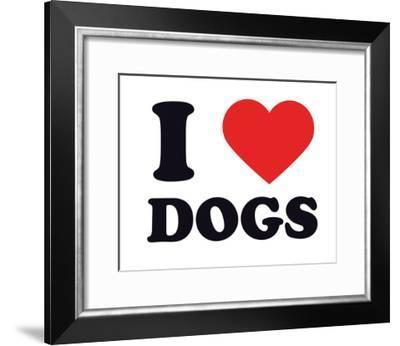 I Heart Dogs--Framed Giclee Print