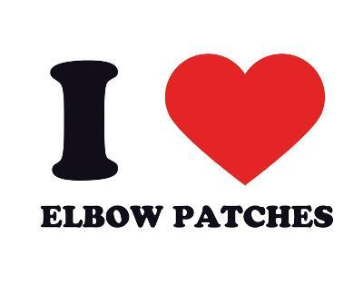 I Heart Elbow Patches--Giclee Print