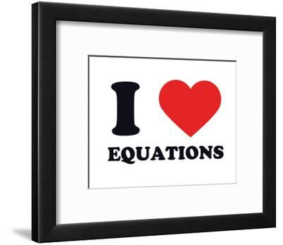 I Heart Equations--Framed Giclee Print