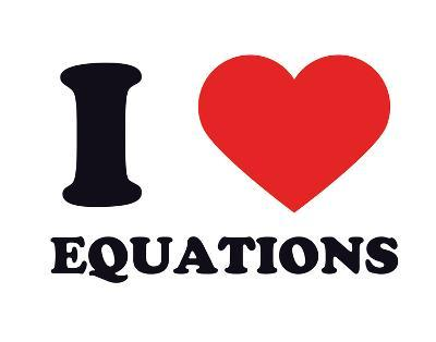 I Heart Equations--Giclee Print
