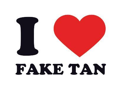 I Heart Fake Tan--Giclee Print