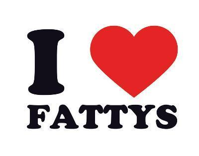 I Heart Fattys--Giclee Print