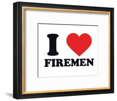 I Heart Firemen--Framed Giclee Print