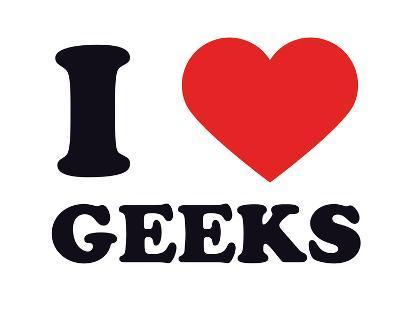 I Heart Geeks--Giclee Print