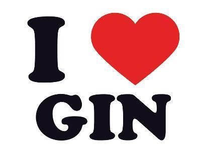 I Heart Gin--Giclee Print